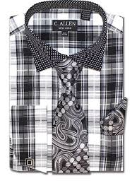 details about men u0027s new c allen black polka dot and checkered