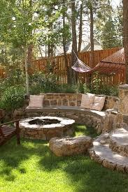 Nice Backyard Very Nice Backyard Area Hammock Fire Pit Stone Bench I Love