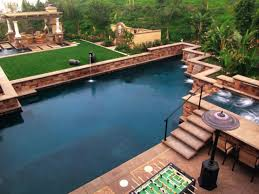 Awesome Backyard Pools by Download Backyard Feature Wall Ideas Garden Design
