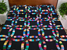 Double Wedding Ring Quilt by Double Wedding Ring Quilt Great Meticulously Made Amish Quilts