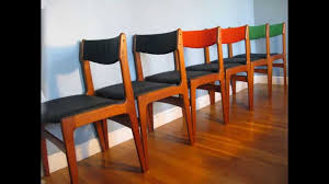 How To Upholster Dining Room Chairs by Found Midcentury Modern Danish Teak Dining Chairs Youtube