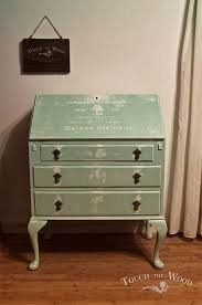 green bureau shabby chic makeover bureau no 23 touch the wood