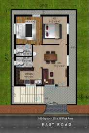 2bhk house design plans way2nirman 100 sq yds 25x36 sq ft east face house 2bhk floor plan