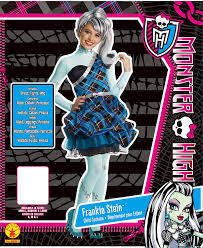 monster high frankie stein child halloween costume amazon com monster high sweet 1600 deluxe frankie stein costume