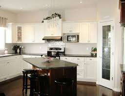 White Kitchen Island With Black Granite Top Kitchen Room 2018 Vintage White Kitchen Cabinets With Wood Floor