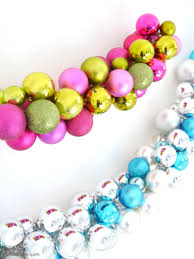 Diy Christmas Ornaments by Diy Christmas Ornament Baubles Garland Party Ideas Party