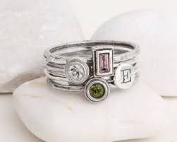 silver mothers ring stack rings personalized s ring sterling silver