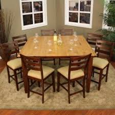 Counter Height Table For  Foter - Bar height dining table with 8 chairs