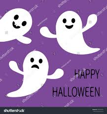 funny flying ghost smiling sad face stock illustration 476466976