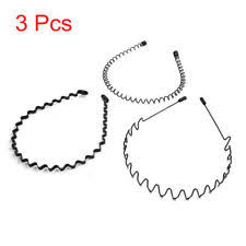 hair bands for men fashion wavy black spiral metal coiled hair band headband