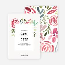 save the date card strokes of floral wedding save the date cards paper culture
