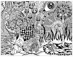 psychedelic patterns hidden cat psychedelic coloring pages for