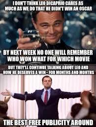 Leonardo Dicaprio No Oscar Meme - leonardo dicaprio