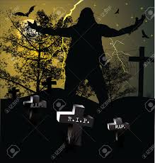 halloween graveyard background spooky graveyard halloween background royalty free cliparts