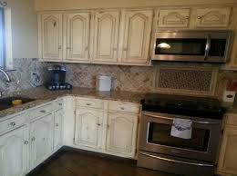 Painting Kitchen Cabinets Antique White How To Distress Kitchen Cabinets All About House Design