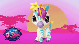 littlest pet shop collect u0026 get special edition zebra zinnia