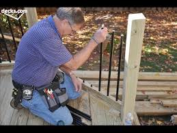 How To Make Handrails For Decks How To Install Deck Stair Railing And Spindles How To Install Deck