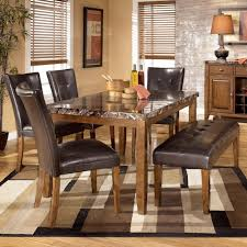 ashley dining room tables signature design by ashley lacey 6 piece dining table with side
