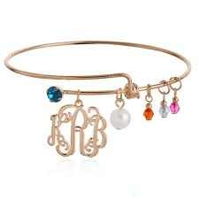 Monogram Bracelets Jewelry Duck Picture More Detailed Picture About Gold Monogram