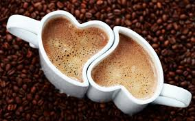wallpaper borders coffee cups love coffee cup with coffee beans hd desktop background