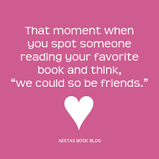 Book Blog Memes - that moment when you spot someone reading your favorite book and