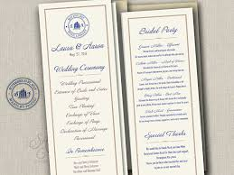 printed wedding programs library book wedding programs simple tea length printed