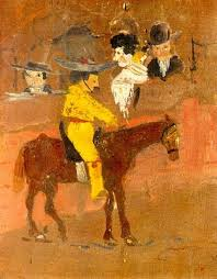 at the tender young age of picasso completed his first painting le picador by pablo picasso completion date 1890 style naïve art primitivism period