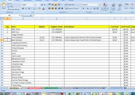 Making An Excel Spreadsheet Planning Materials And Shopping List Retro5 Arcade