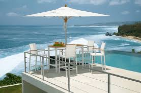 High Patio Dining Sets Delightful Outdoor Patio Furniture Near Swimming Pool Feat Metal