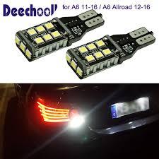 audi a6 fog light bulb deechooll 2pcs led reverse light bulbs for audi a6 11 16 canbus t15