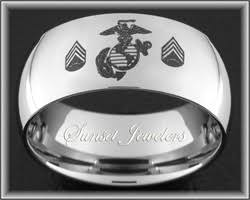 marine wedding rings usmc tungsten wedding ring engraved with marines eagle globe