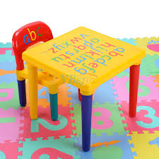 childrens plastic table and chairs cute kids abc alphabet plastic table chair set children