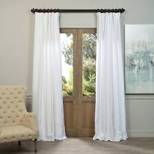White Faux Silk Curtains Half Price Drapes Pdch Kbs1 84 Vintage Textured Faux
