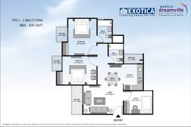 Fema Trailer Floor Plan by Exotica Dreamville 1a Sec 16c Greater Noida Floor Plans