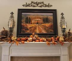 besides standard fall decorations you could also hang beautiful photos of this time of the year