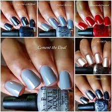 enamel opi 50 shades of grey collection swatches and review
