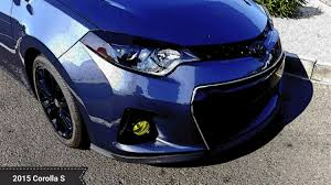 toyota corolla with rims 2014 2015 2016 corolla toyota nation custom rims headlights