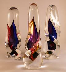 decorative glass ornaments richly colourful twisted glass ornaments