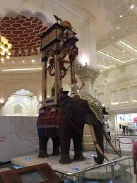 a hog in arabia life size elephant and men statue persia court ibn battuta
