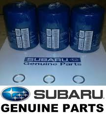 oem factory subaru engine oil filter u0026 crush gasket 3 pack