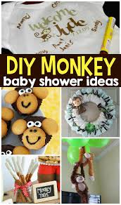 monkey decorations for baby shower diy monkey baby shower ideas crafty morning