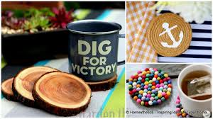 Diy Coasters 24 Fun And Simple Ways To Make Diy Coasters That You Can Actually Use