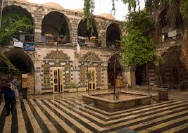 house courtyard old house courtyard damascus syria eric lafforgue photography