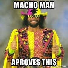 Macho Man Memes - macho man aproves this randy savage thumbs up meme generator