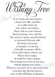 wedding wishes poem custom printable wedding wishing tree sign by stacecadetdesigns