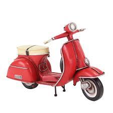handmade car model red 1958 motorcycle model for home decor