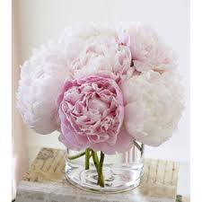 artificial peonies silk floral arrangement faux light pink peonies with il