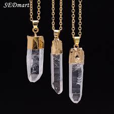 rock crystal quartz necklace images Sedmart women 39 s real rock crystal quartz pendant necklace rough jpg