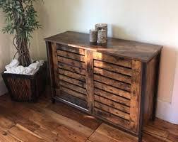 buffet sideboard cabinet storage kitchen hallway table industrial rustic industrial sideboard etsy