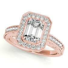 luxury engagement rings gold engagement ring luxury emerald cut halo filigree diamond